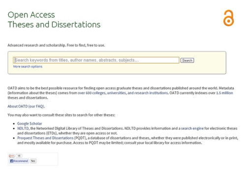 open access theses and dissertation